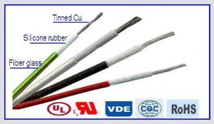 IEC60245-3 Glass Fiber Braid Silicone Rubber Wire
