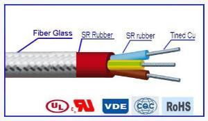 YGZ-GL Fiberglass Braid Silicone Rubber Insulated Cable