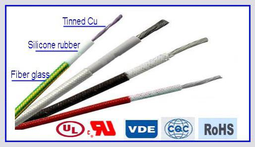 H05SJ-K Glass Fiber Braid Silicone Rubber Wire